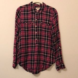 Lucky brand plaid top s